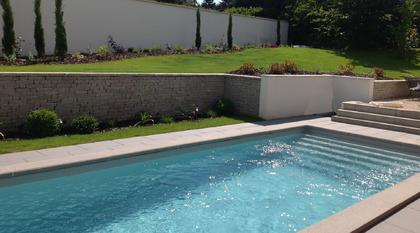 Paysagiste jardin piscine Chaponost