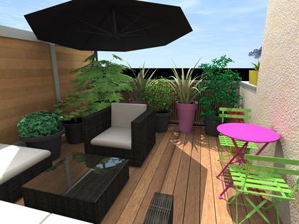 Plan 3D terrasse Irigny